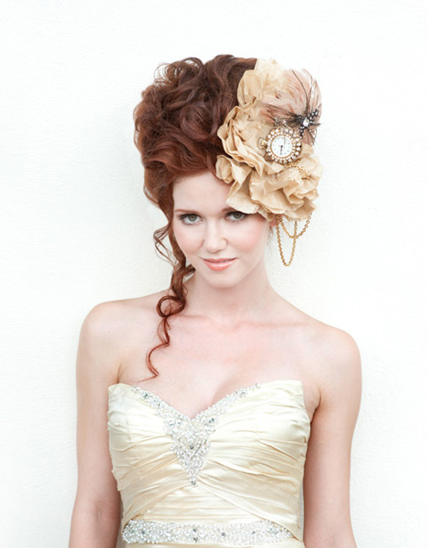 Grazyna Mercado Wedding Hair Design Curly Hair Bridal Updo in Jacksonville