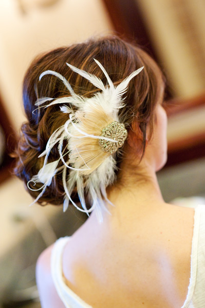 Grazyna Mercado Wedding Hair Design Flower and Bun Updo
