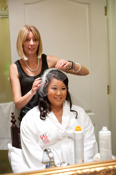 Grazyna Mercado Wedding Hair Hairstylist with Bride