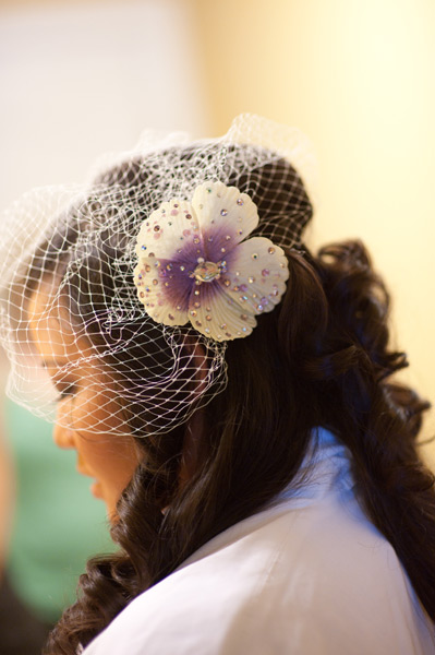 Grazyna Mercado Wedding Hair Design Bridal Hair with Flower