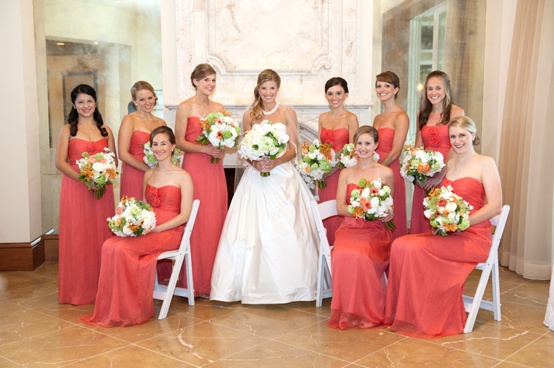 Grazyna Mercado Bride and Bridesmaids Wedding Hairstyle