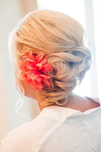 Grazyna Mercado Wedding Updo with Flower Bridal Hair