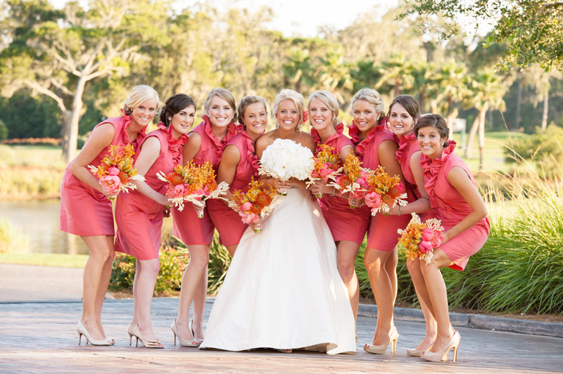 Grazyna Mercado Bride with Bridesmaids Wedding Hairstyle