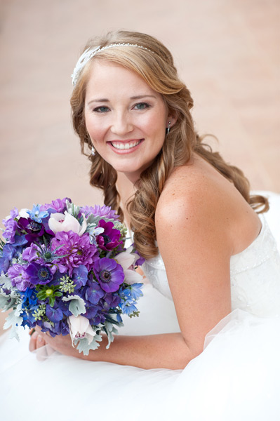 Grazyna Mercado Wedding Hair Curly Half-Up Hairstyle