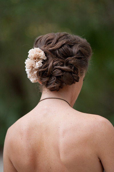Grazyna Mercado Wedding Hairstyle Bridal Updo with Flower