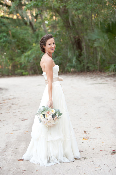 Grazyna Mercado Beach Wedding Bridal Updo Hairstyle
