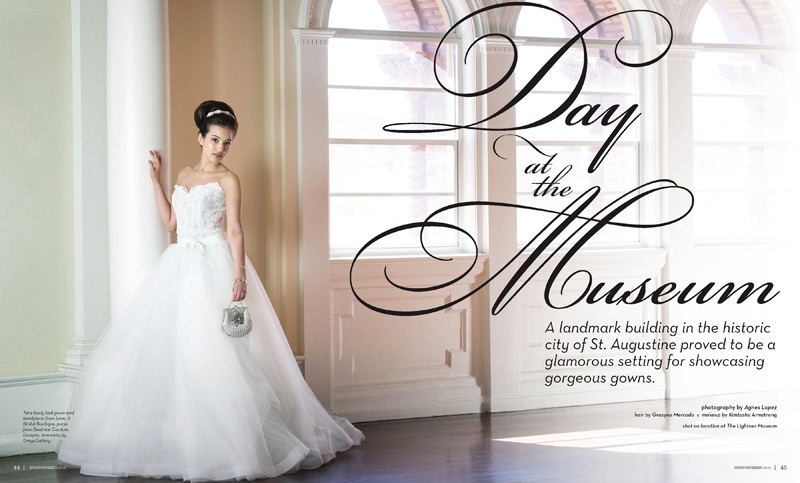 Grazyna Mercado Bridal Updo for Summer Wedding or Spring Wedding Jacksonville Magazine