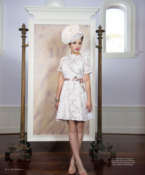 Grazyna Mercado Bridal Updo with Hat for Wedding for Jacksonville Magazine