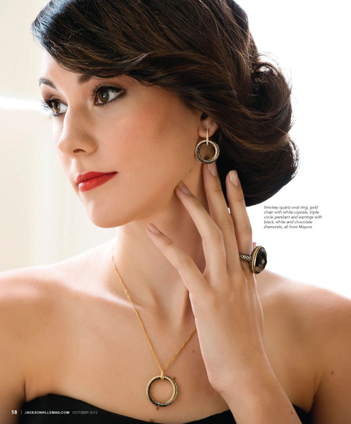 Grazyna Mercado Elegant Bridal Hair Wedding Updo for Jacksonville Magazine