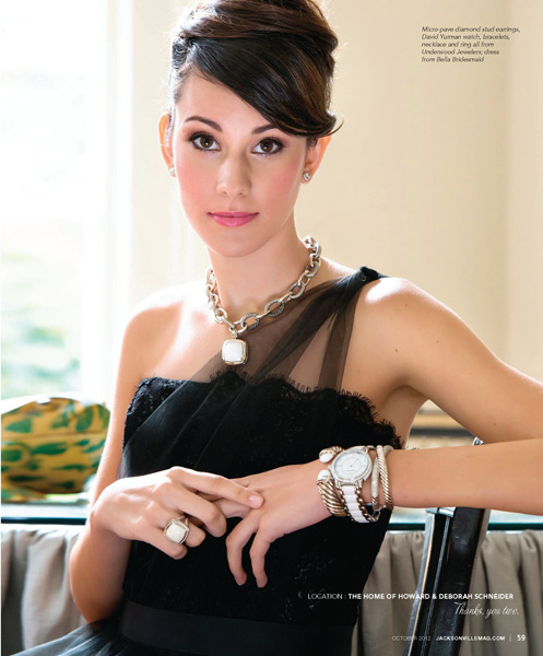 Grazyna Mercado Sleek Bridal Hair Wedding Updo for Jacksonville Magazine