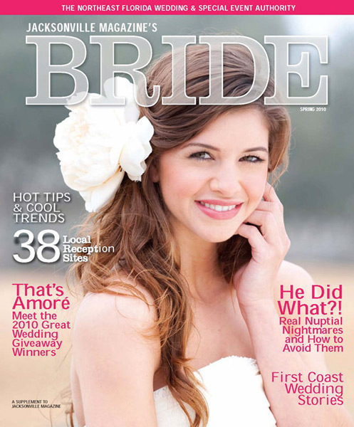 Grazyna Mercado Wedding Hair Design Bridal Updo in Jacksonville Magazine