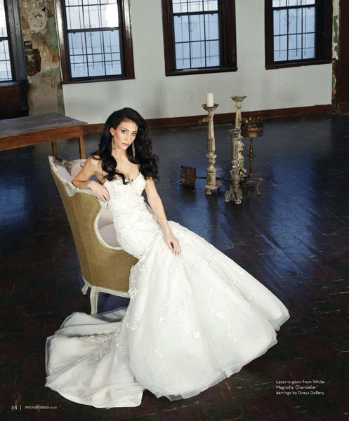 Grazyna Mercado Brown Hair Wedding Hairstyle for Bride Jacksonville Magazine