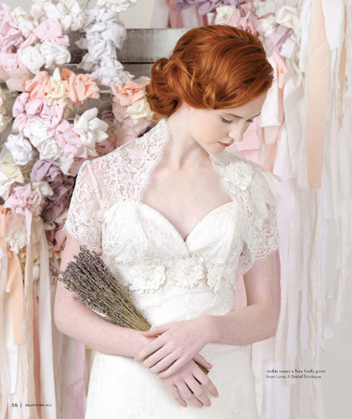 Grazyna Mercado Low Bun Hairstyle Updo for Red Hair Wedding Hair for Jacksonville Magazine