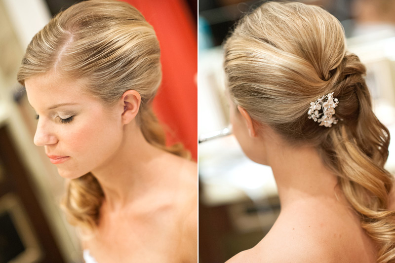 Grazyna Mercado Wedding Side Ponytail Bridal Hair