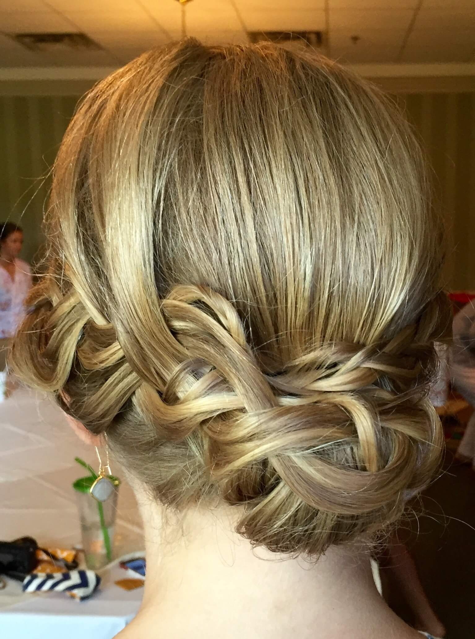 Hair stylist wedding